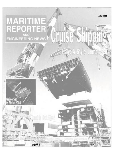 Cover of July 2002 issue of Maritime Reporter and Engineering News Magazine