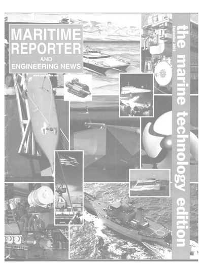 Cover of September 2002 issue of Maritime Reporter and Engineering News Magazine
