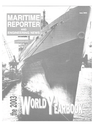 Cover of June 2003 issue of Maritime Reporter and Engineering News Magazine