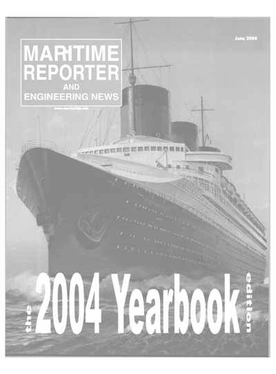 Cover of June 2004 issue of Maritime Reporter and Engineering News Magazine