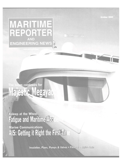 Cover of October 2004 issue of Maritime Reporter and Engineering News Magazine