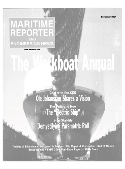 Cover of November 2004 issue of Maritime Reporter and Engineering News Magazine
