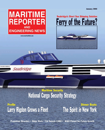 Cover of January 2, 2005 issue of Maritime Reporter and Engineering News Magazine