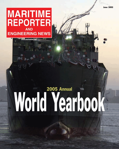 Cover of June 2005 issue of Maritime Reporter and Engineering News Magazine