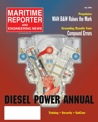 Cover of July 2005 issue of Maritime Reporter and Engineering News Magazine