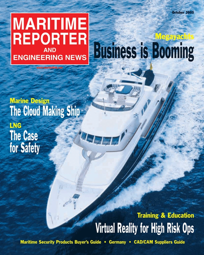 Cover of October 2005 issue of Maritime Reporter and Engineering News Magazine
