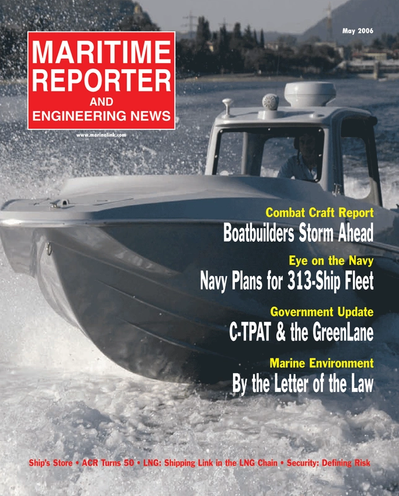 Cover of May 2006 issue of Maritime Reporter and Engineering News Magazine