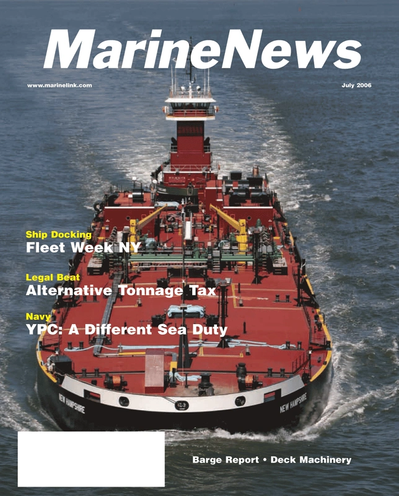 Cover of July 2006 issue of Maritime Reporter and Engineering News Magazine