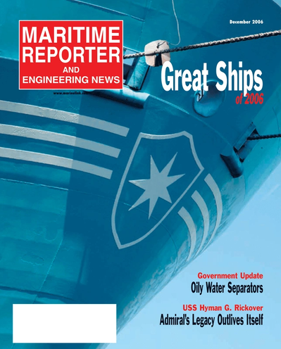 Cover of December 2, 2006 issue of Maritime Reporter and Engineering News Magazine