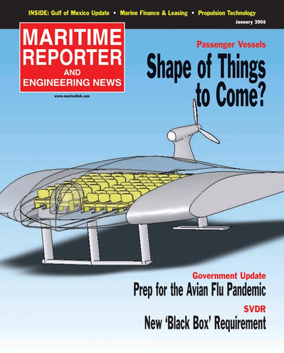 Cover of January 2010 issue of Maritime Reporter and Engineering News Magazine