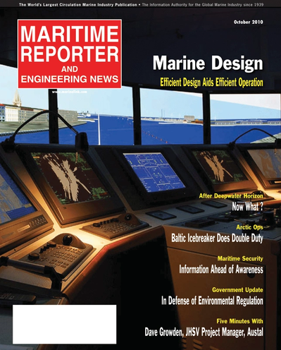 Cover of February 2, 2010 issue of Maritime Reporter and Engineering News Magazine
