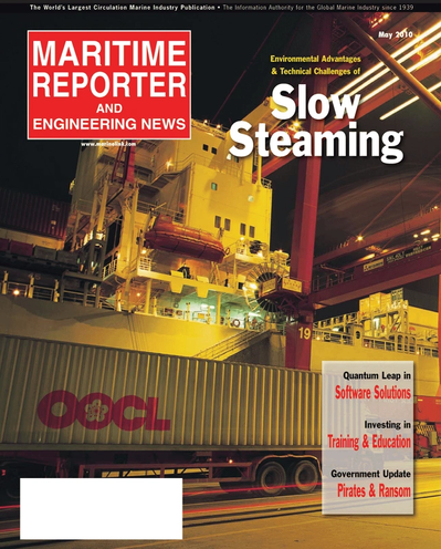 Cover of May 2, 2010 issue of Maritime Reporter and Engineering News Magazine