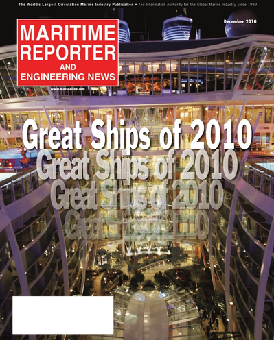 Cover of December 2010 issue of Maritime Reporter and Engineering News Magazine