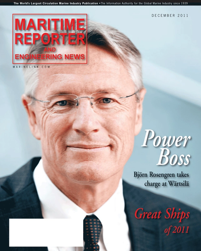 Cover of December 2011 issue of Maritime Reporter and Engineering News Magazine