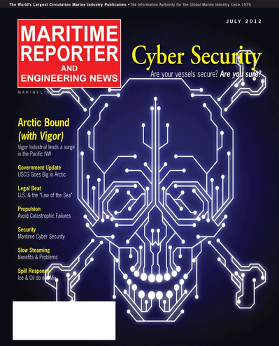 Cover of July 2012 issue of Maritime Reporter and Engineering News Magazine