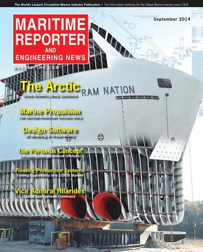 Cover of September 2014 issue of Maritime Reporter and Engineering News Magazine