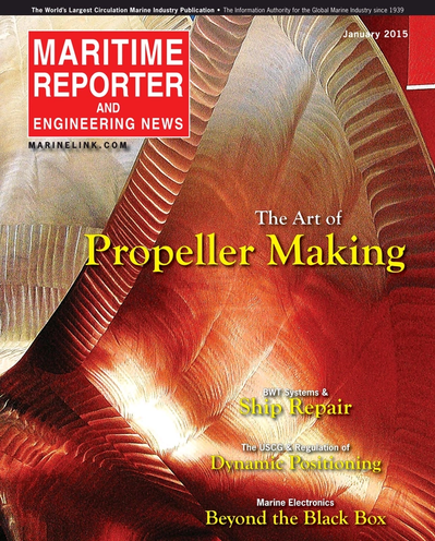 Cover of January 2015 issue of Maritime Reporter and Engineering News Magazine