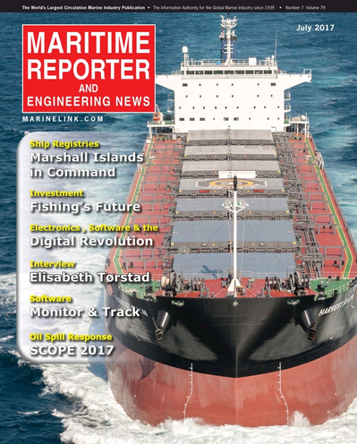 Cover of July 2017 issue of Maritime Reporter and Engineering News Magazine