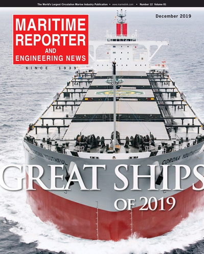 Cover of December 2019 issue of Maritime Reporter and Engineering News Magazine