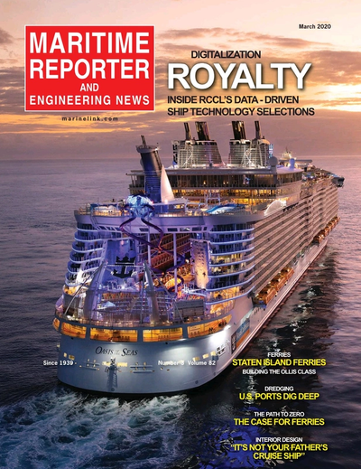 Cover of March 2020 issue of Maritime Reporter and Engineering News Magazine