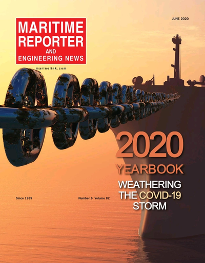 Cover of June 2020 issue of Maritime Reporter and Engineering News Magazine