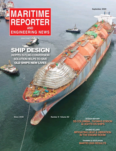 Cover of September 2020 issue of Maritime Reporter and Engineering News Magazine