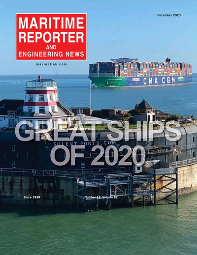 Cover of December 2020 issue of Maritime Reporter and Engineering News Magazine