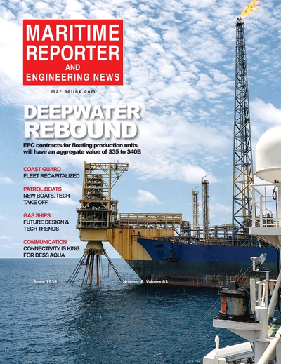 Cover of June 2021 issue of Maritime Reporter and Engineering News Magazine