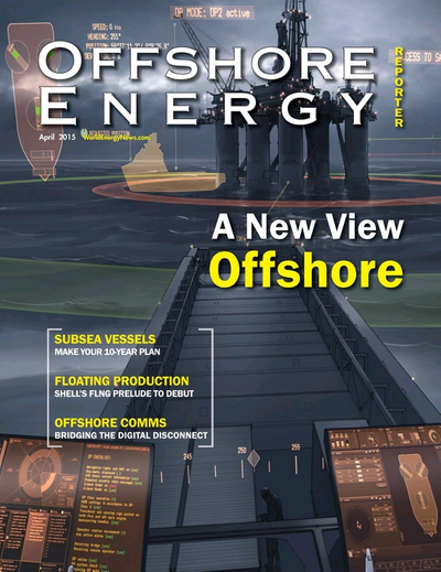 Cover of January 2015 issue of Offshore Energy Reporter Magazine