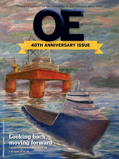 Cover of January 2015 issue of Offshore Engineer Magazine