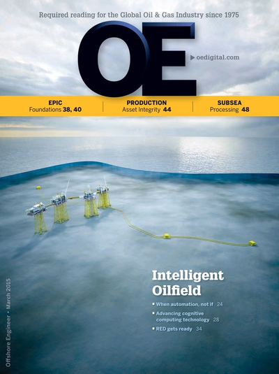 Cover of March 2015 issue of Offshore Engineer Magazine