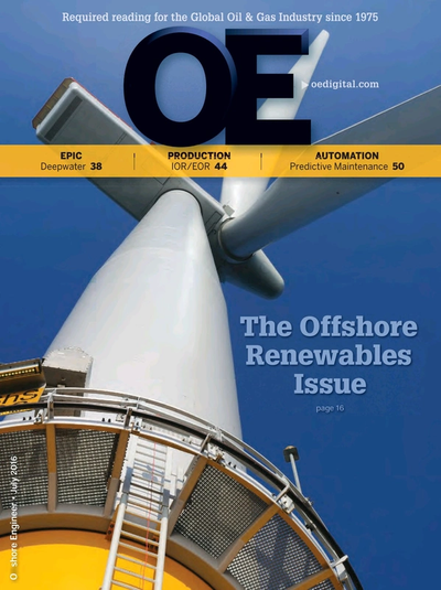 Cover of July 2016 issue of Offshore Engineer Magazine