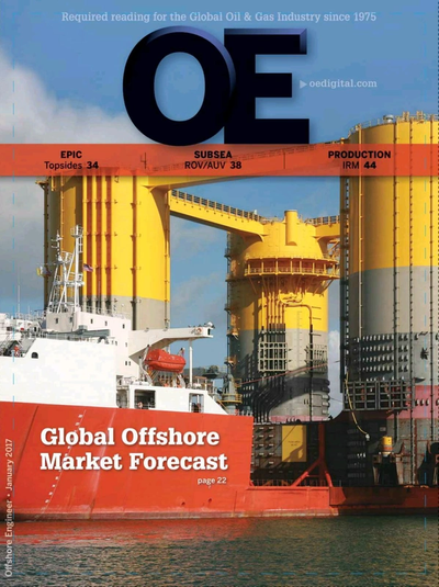 Cover of Jan/Feb 2017 issue of Offshore Engineer Magazine