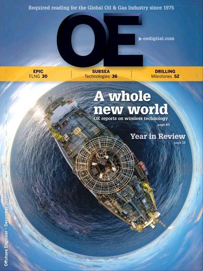 Cover of December 2017 issue of Offshore Engineer Magazine