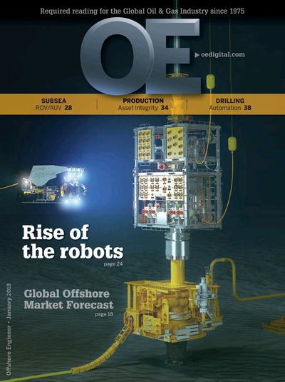 Cover of January 2018 issue of Offshore Engineer Magazine