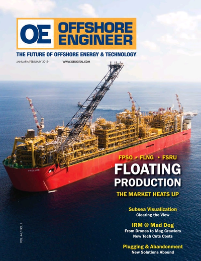 Cover of January 2019 issue of Offshore Engineer Magazine