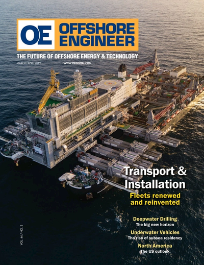 Cover of March 2019 issue of Offshore Engineer Magazine