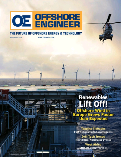 Cover of May 2019 issue of Offshore Engineer Magazine