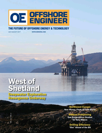 Cover of July 2019 issue of Offshore Engineer Magazine