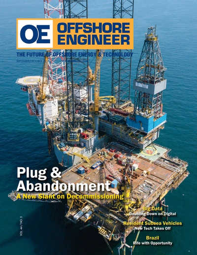 Cover of September 2019 issue of Offshore Engineer Magazine