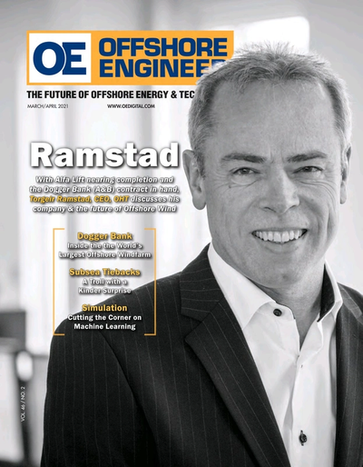 Cover of Mar/Apr 2021 issue of Offshore Engineer Magazine