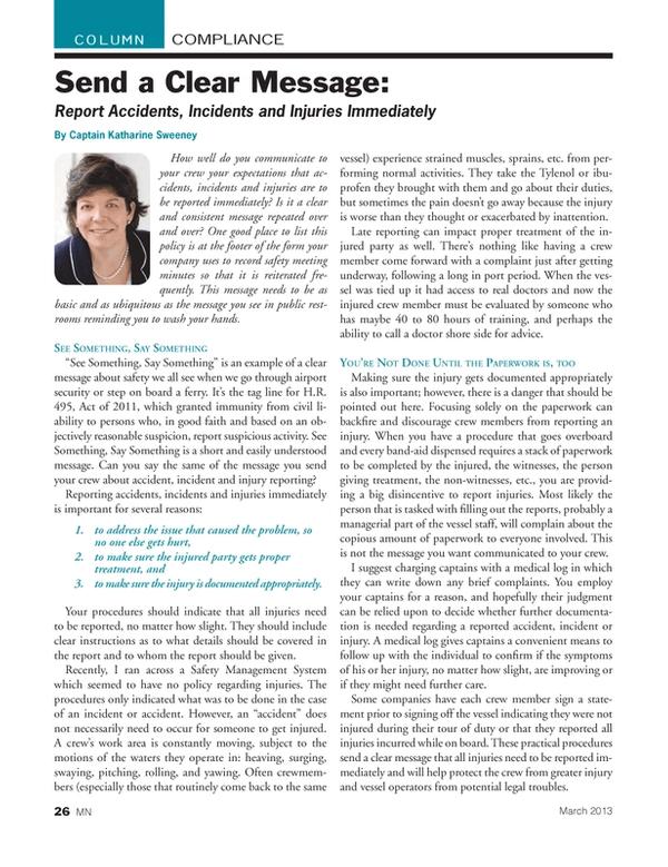 Marine News Magazine, page 26,  Mar 2013