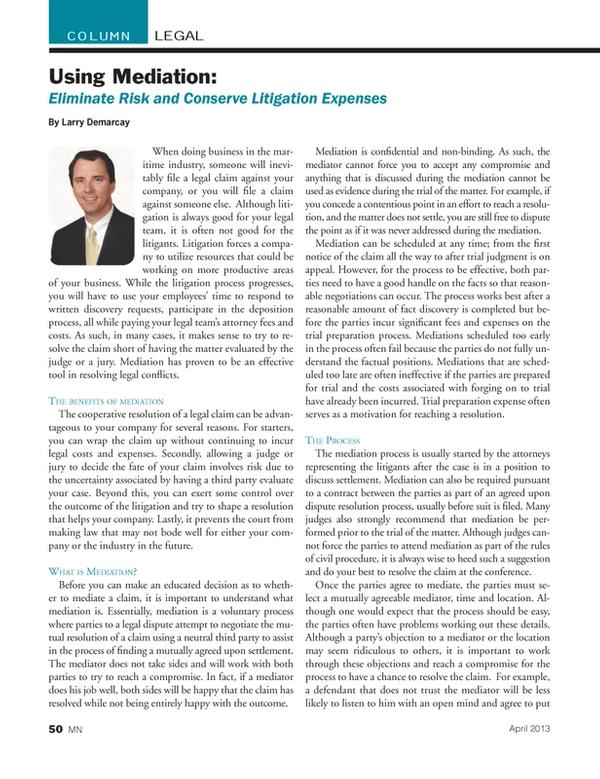 Marine News Magazine, page 50,  Apr 2013