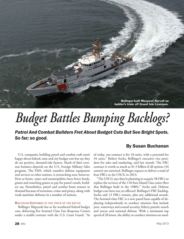 Marine News Magazine, page 28,  May 2013
