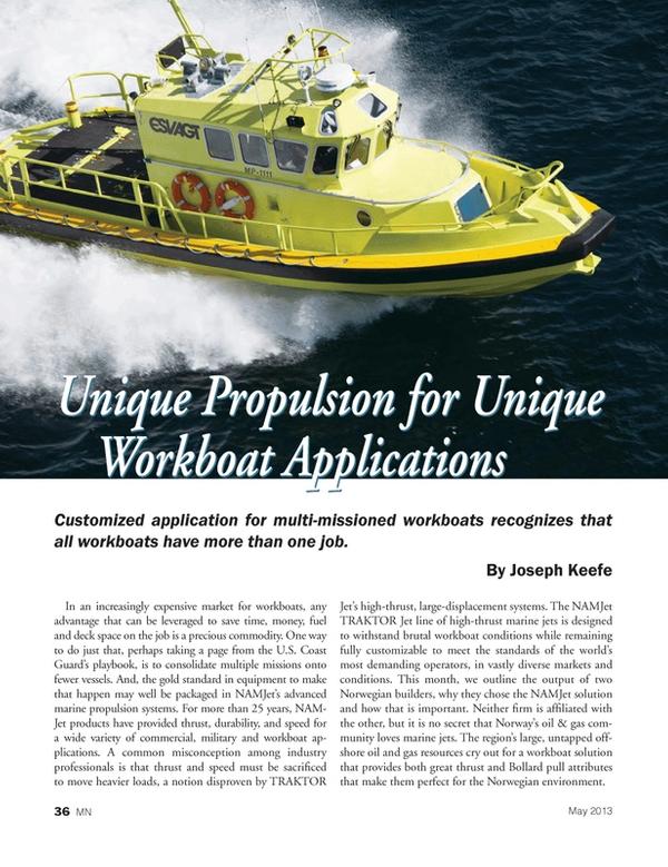 Marine News Magazine, page 36,  May 2013