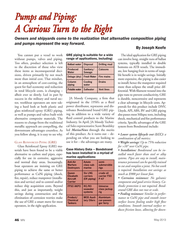 Marine News Magazine, page 46,  May 2013