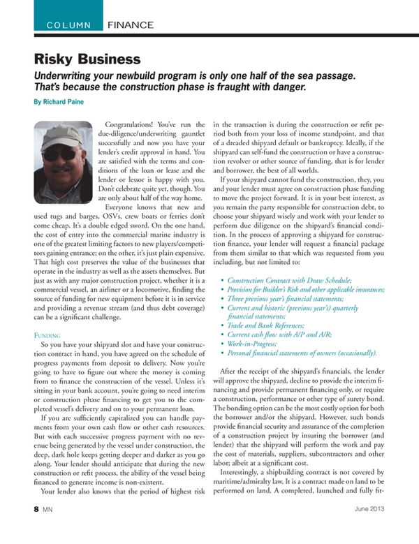 Marine News Magazine, page 8,  Jun 2013