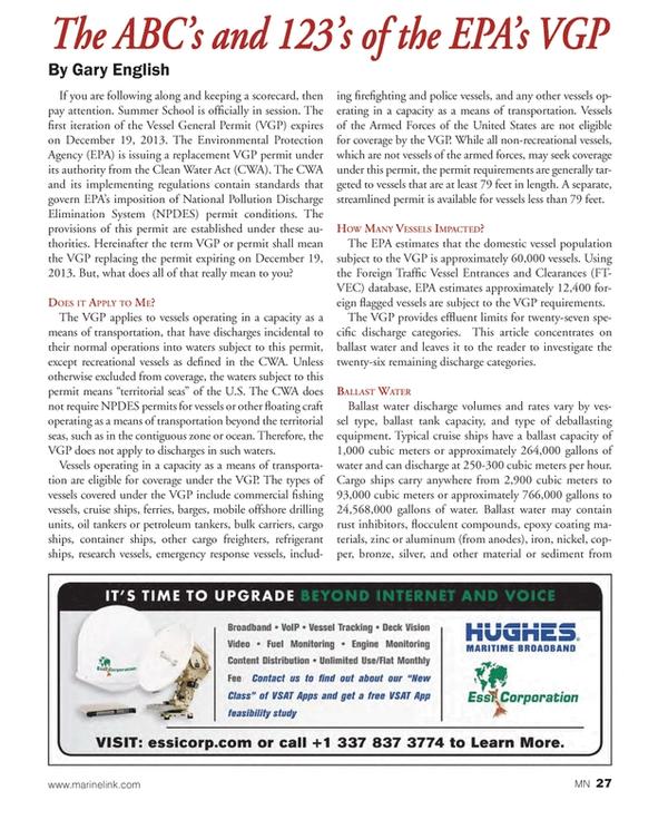 Marine News Magazine, page 27,  Jul 2013 United States