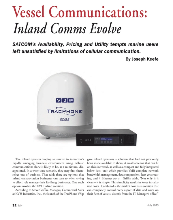 Marine News Magazine, page 32,  Jul 2013