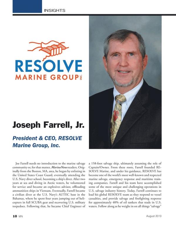 Marine News Magazine, page 10,  Aug 2013 United States Coast Guard